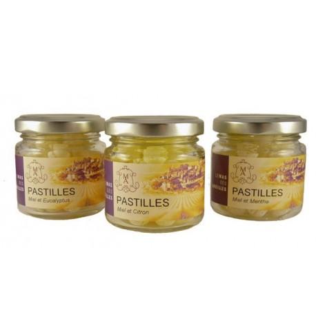 Honey throat lozenge in flavor lemon ,le mas des abeilles
