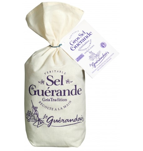 Cooking salt of Guérande in linen bag