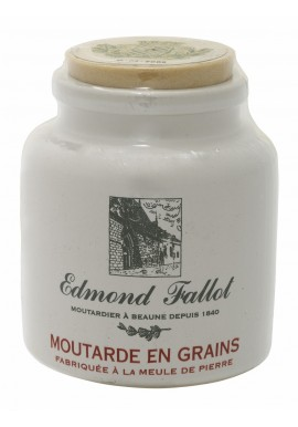 Moutarde en grains au vin blanc en pot grès Edmond Fallot