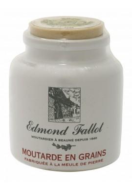 Moutarde en grains au vin blanc en pot grès, Edmond Fallot