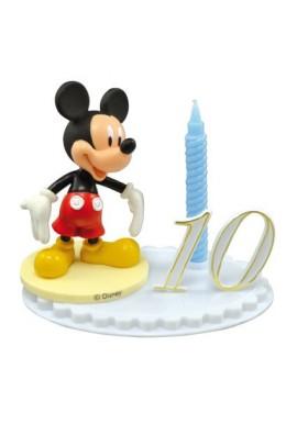Bougie d'Anniversaire Mickey sur socle à chiffres modulables Disney