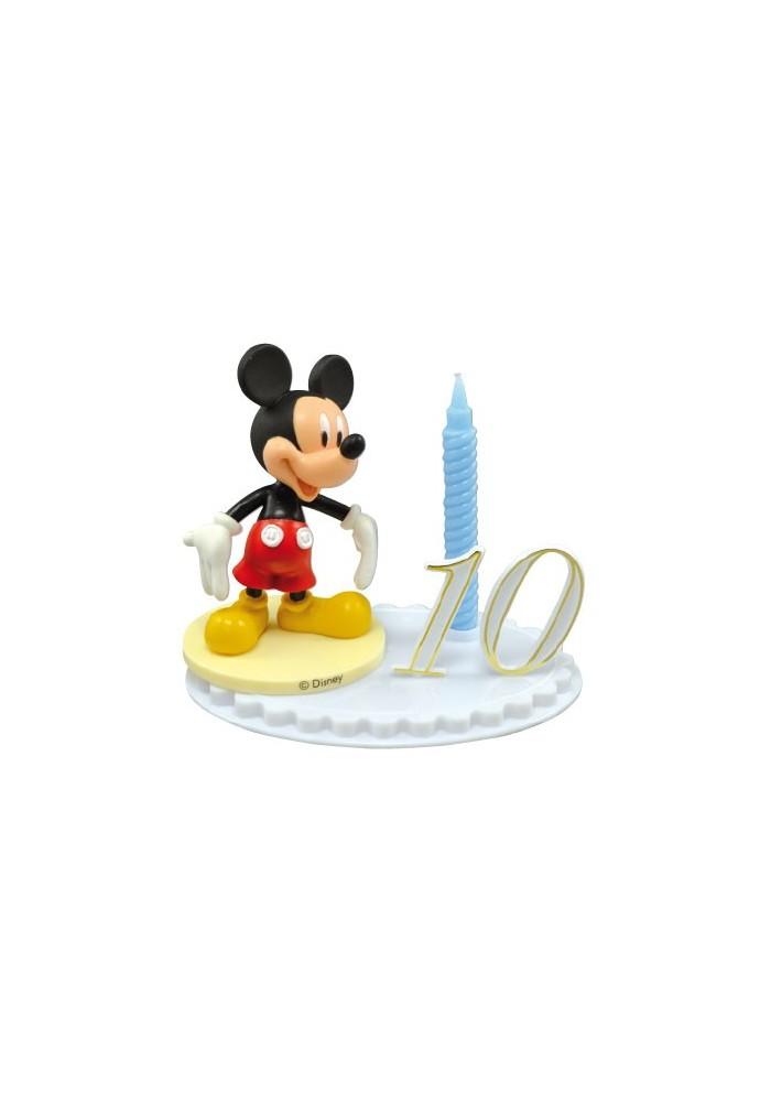 Bougie D Anniversaire Mickey Sur Socle A Chiffres Modulables