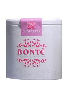 Box pocket of candies hearts in the violet Bonté