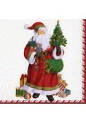 Set de 20 Serviettes en Papier Père Noel