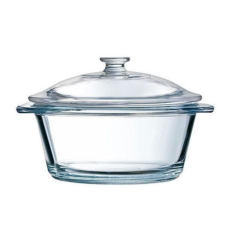 Cocotte en verre ronde Ø 13 x ht 11,5 cm