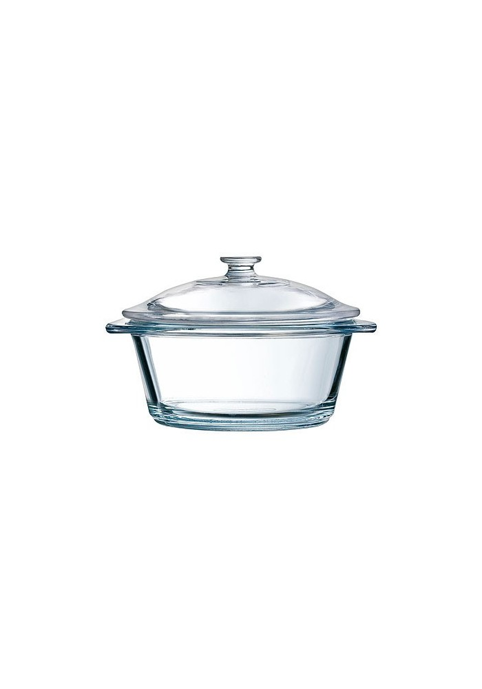 cocotte en verre ronde transparent vie de chateaux. Black Bedroom Furniture Sets. Home Design Ideas