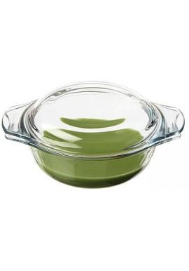 Cocotte en verre ronde fond vert