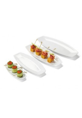 Assiette en porcelaine plate Kayuko 30 x 12 x 3,2 cm x6