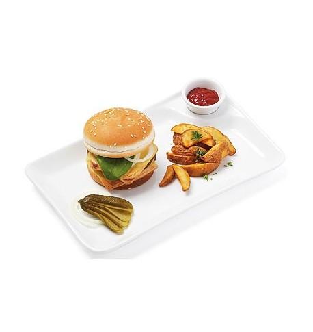 "Assiette plate ""NOW'O"" 31,5 x 20 cm x4"