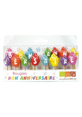 Candles Happy birthday Scrapcooking ®