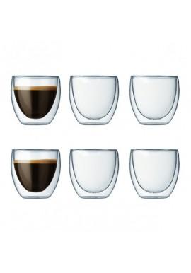 Set de 6 tasses 'pavina' 8 cl BODUM