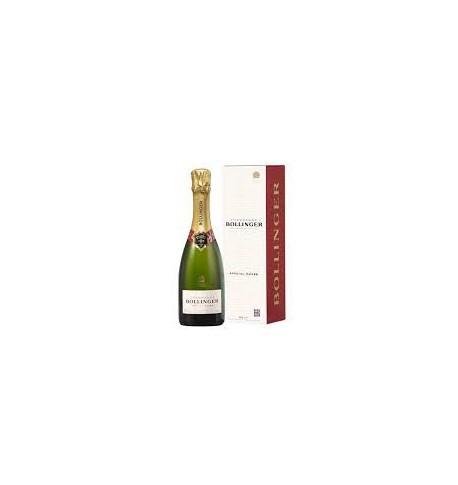 Vintage prestigious Bollinger Champagne half bottle