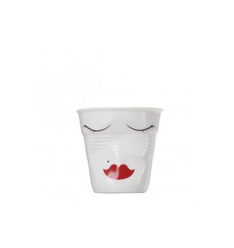 Gobelet espresso froissés white madame