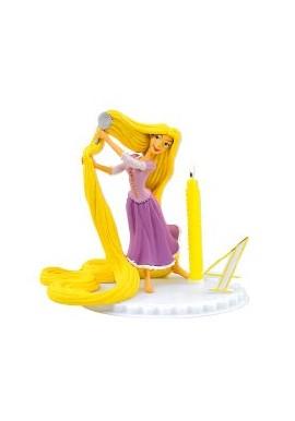Bougie d'Anniversaire Raiponce sur socle à chiffres modulables Disney