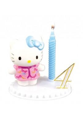 Bougie d'Anniversaire Hello Kitty sur socle à chiffres modulables Disney