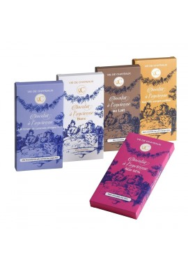 Chocolat à l'ancienne noir et oranges confites  90 gr - Vie de Châteaux