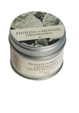 Boite en métal Feuilles de menthe cristallisées 65 gr - Vie de Châteaux
