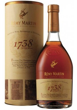 Remy martin 1738 tube metal 70cl A01256 tube métal