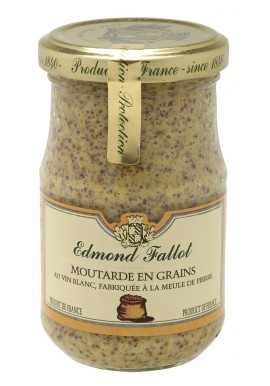 Grains mustard in the white burgundy  wine