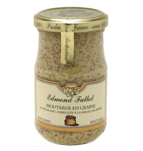 Moutarde en grains au vin blanc, Edmond Fallot