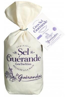 Cooking salt of Guérande in linen bag