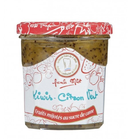 Confiture de kiwi au citron vert au sucre de canne par Françis Miot