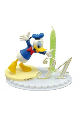 Bougie d'Anniversaire Donald sur socle à chiffres modulables Disney