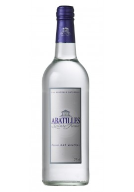 Natural mineral water ABATILLES of high quality 75cl