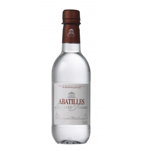 Natural mineral water finely  sparkling  ABATILLES of high quality