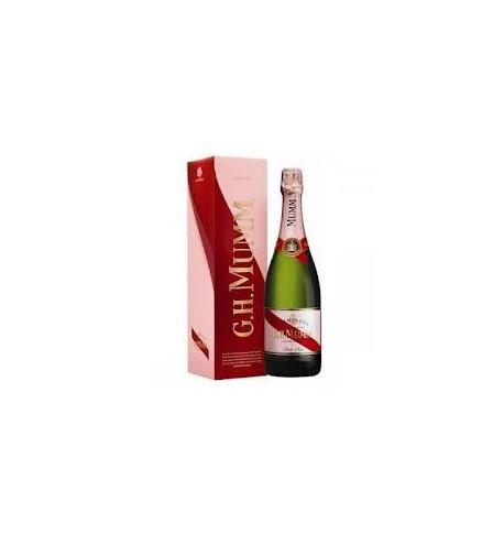 Bottle of  Pink Brut Champagne Mumm