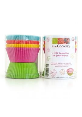 100 caissettes de couleurs pour Cupcakes Scrapcooking®