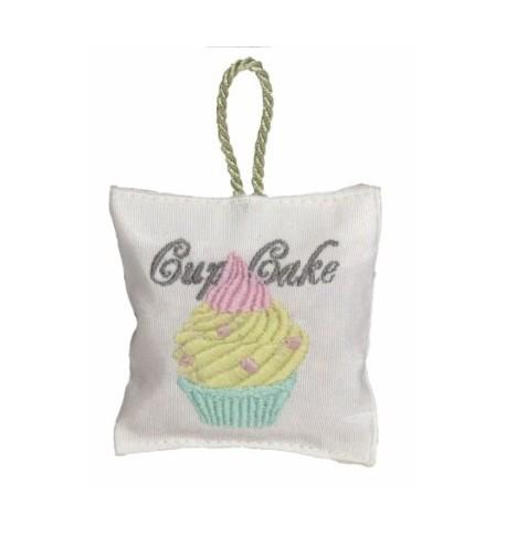 Boite accroche-coeur , Cupcake brodé,  de Catherine Masson