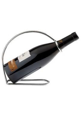 Porte bouteille en acier chromé