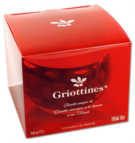 Casket of griottines ® original 15 % (liquor and kirsch), Distillerie Peureux