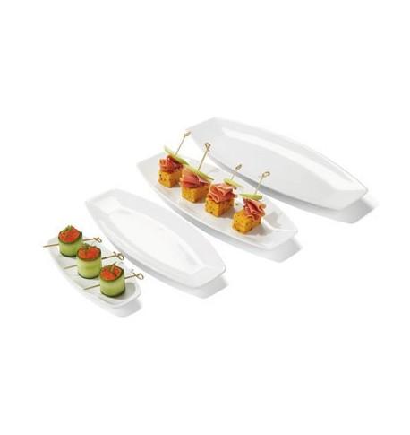 Assiette en porcelaine plate Kayuko 20 x 9 x 2 cm x6