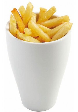 Cornet à frites en porcelaine hôtelière