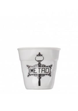 Gobelet espresso froissés white metro revol