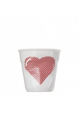 Gobelet espresso froissés white coeur