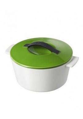 cocotte ronde revol lime green 10cm