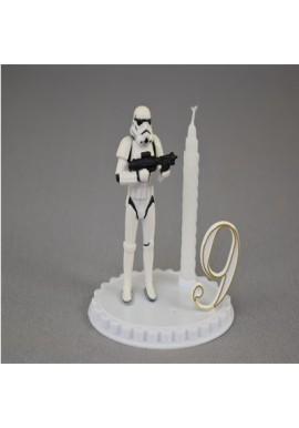 Bougie d'anniversaire Storm troopers