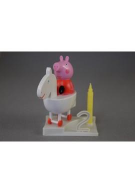 Bougie d'Anniversaire Peppa Pig sur socle à chiffres modulables Disney