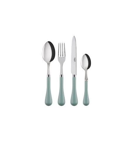 4 pièces (Fourchette, Couteau, Cuillère de table, cuillère café) léon celadon