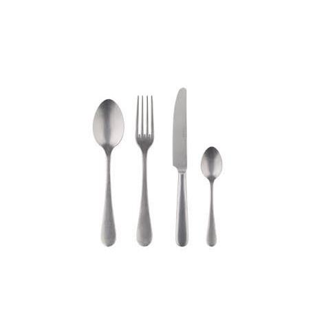 4 pièces (Fourchette, Couteau, Cuillère de table, cuillère café) vintage inox