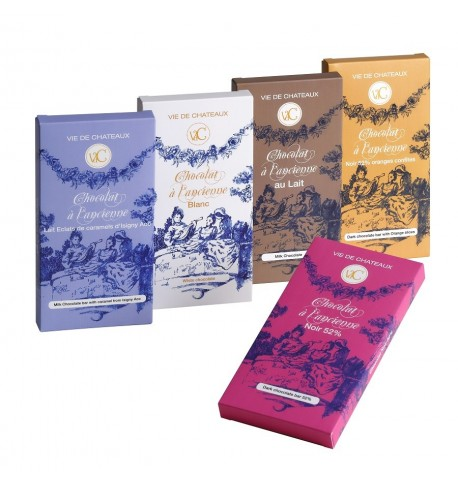 Chocolat à l'ancienne au Lait et éclats de caramel isigny aoc 90 gr - Vie de Châteaux