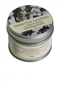 Boite en métal Violettes entières de Toulouse cristallisées 65 gr - Vie de Châteaux