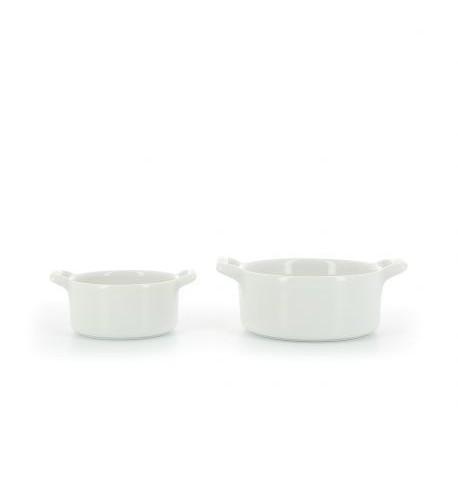 ramequin rond en porcelaine blanc