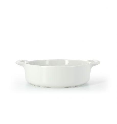 plat rond profond en porcelaine blanc