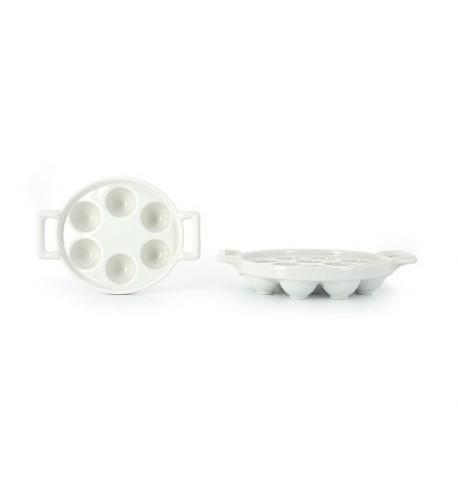 plat a escargots en porcelaine 6 ou 12 trous