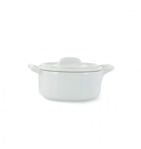 petite cocotte ronde en porcelaine avec couvercle