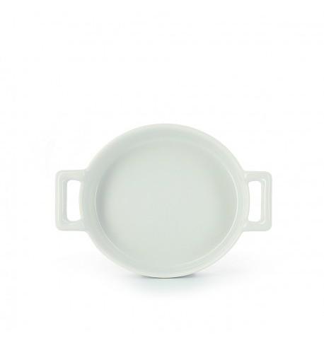 cassolette ovale crème brulée en porcelaine